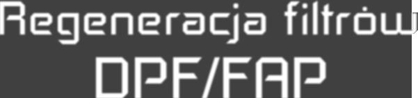 Regeneracja filtrów DPF/FAP